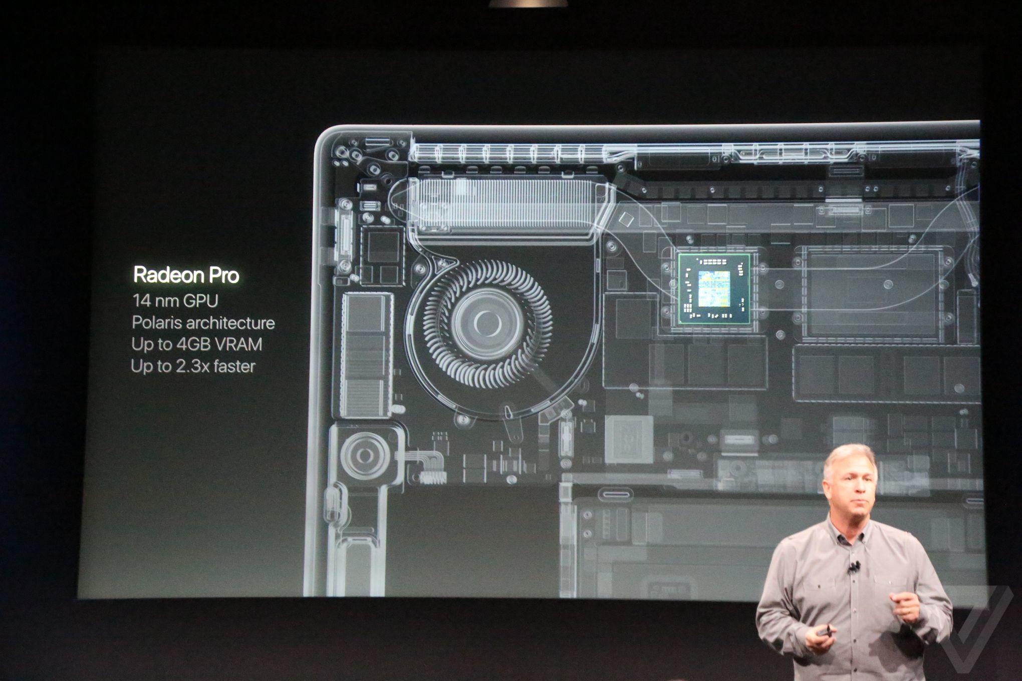 New Macbook Pros using Radeon Pro graphics (Polaris